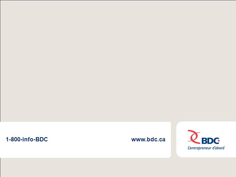 BDC : un partenariat complémentaire9 1-800-info-BDCwww.bdc.ca
