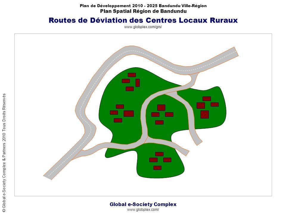Global e-Society Complex www.globplex.com/ Plan de Développement 2010 - 2025 Bandundu Ville-Région Plan Spatial Région de Bandundu © Global e-Society Complex & Partners 2010 Tous Droits Réservés Routes de Déviation des Centres Locaux Ruraux www.globplex.com/grs/