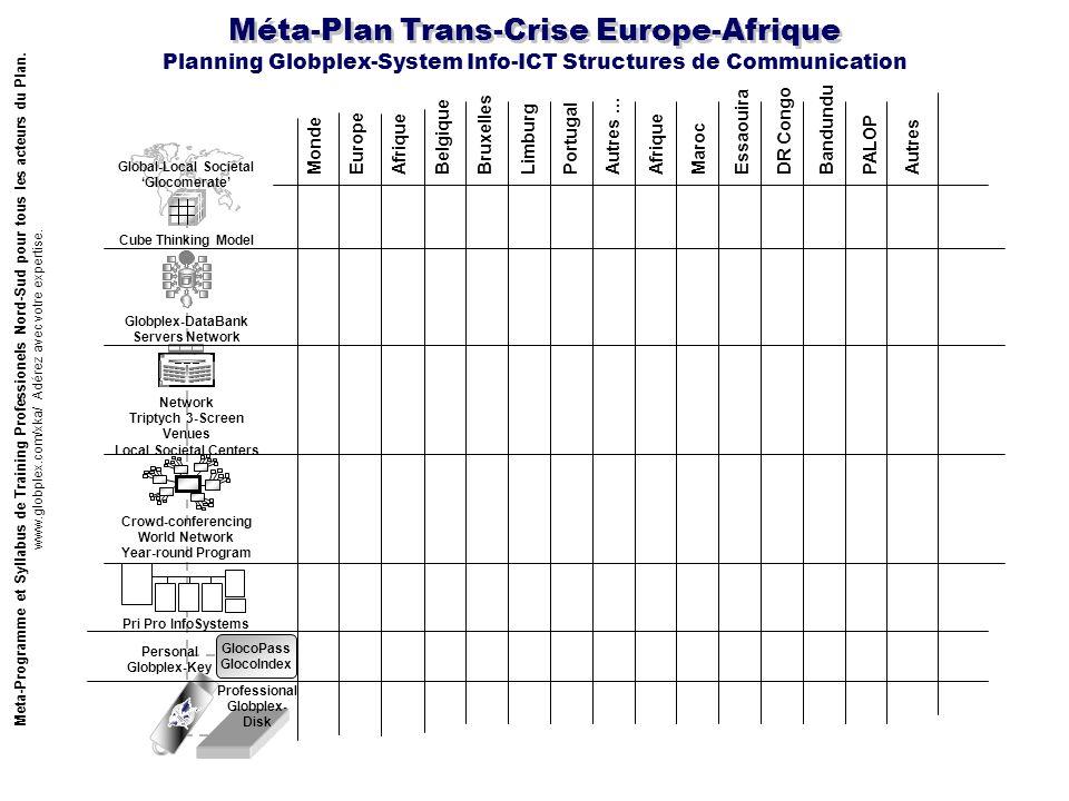 Méta-Plan Trans-Crise Europe-Afrique Meta-Programme et Syllabus de Training Professionels Nord-Sud pour tous les acteurs du Plan. www.globplex.com/xka