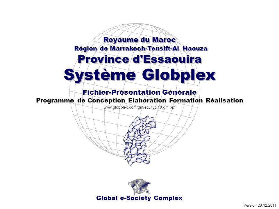 Royaume du Maroc - Région de Marrakech-Tensift-Al Haouza e-Région Province d Essaouira Système Globplex 57 Communes 750+ Quartiers Urbains - Douars www.globplex.com.
