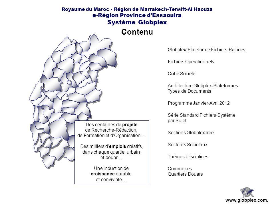 Royaume du Maroc - Région de Marrakech-Tensift-Al Haouza e-Région Province d Essaouira Système Globplex Plateforme Interactive par Sujet www.globplex.com.