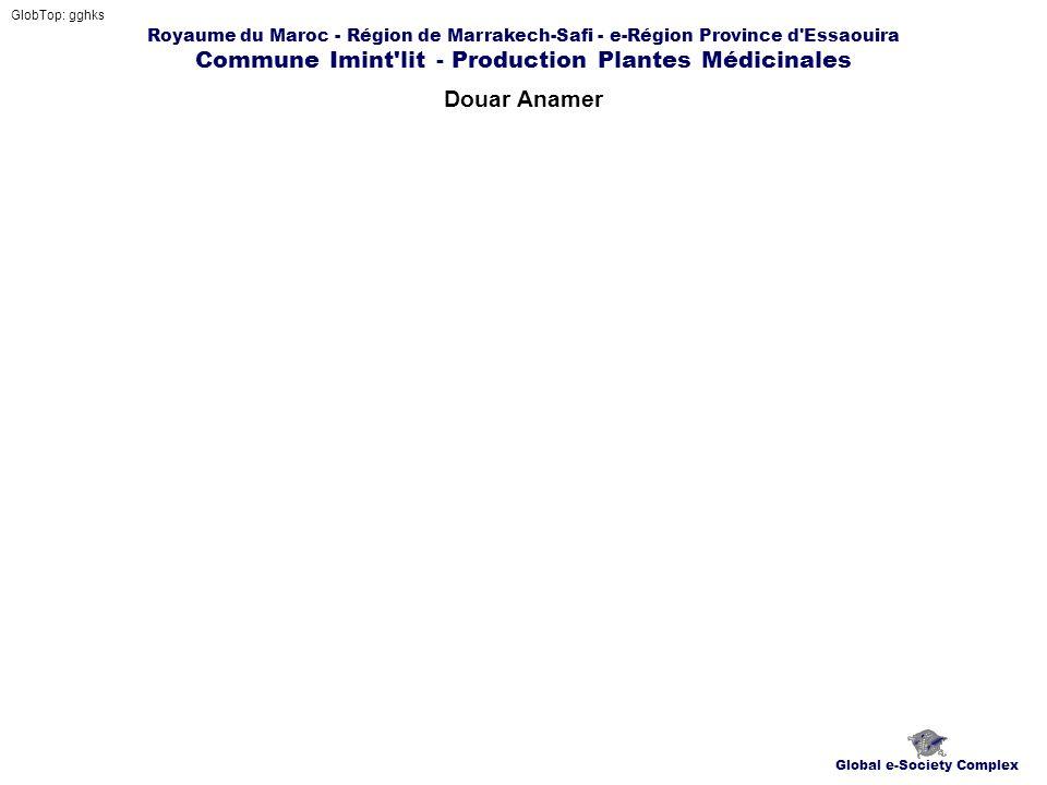 Royaume du Maroc - Région de Marrakech-Safi - e-Région Province d'Essaouira Commune Imint'lit - Production Plantes Médicinales Douar Anamer GlobTop: g