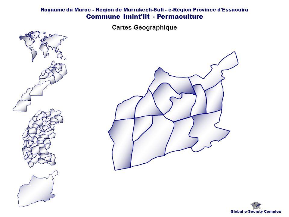 Royaume du Maroc - Région de Marrakech-Safi - e-Région Province d Essaouira Commune Imint lit - Permaculture Cartes Géographique Global e-Society Complex