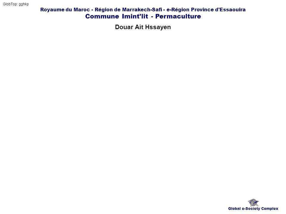 Royaume du Maroc - Région de Marrakech-Safi - e-Région Province d Essaouira Commune Imint lit - Permaculture Douar Ait Hssayen GlobTop: gghkp Global e-Society Complex