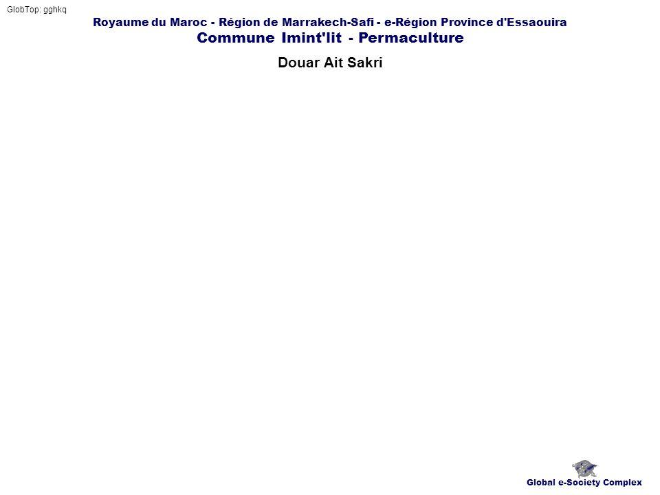 Royaume du Maroc - Région de Marrakech-Safi - e-Région Province d Essaouira Commune Imint lit - Permaculture Douar Ait Sakri GlobTop: gghkq Global e-Society Complex