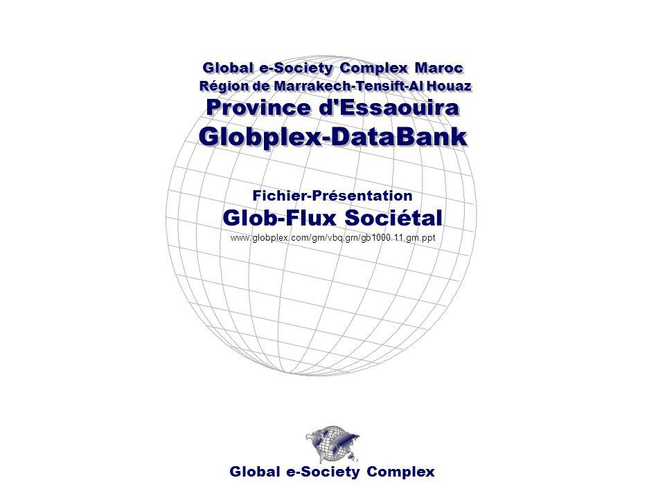 Global e-Society Complex Global e-Society Complex Maroc Région de Marrakech-Tensift-Al Houaz Province d Essaouira Globplex-DataBank Global e-Society Complex Maroc Région de Marrakech-Tensift-Al Houaz Province d Essaouira Globplex-DataBank Fichier-Présentation Glob-Flux Sociétal www.globplex.com/grn/vbq.grn/gb1000.11.grn.ppt