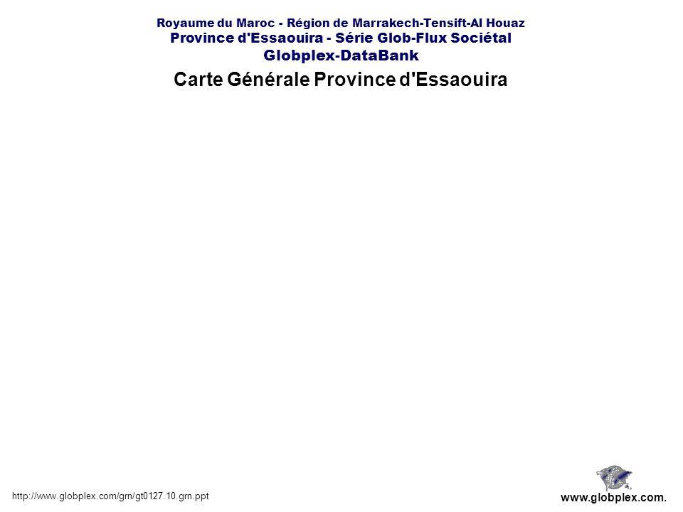Royaume du Maroc - Région de Marrakech-Tensift-Al Houaz Province d Essaouira - Série Glob-Flux Sociétal Globplex-DataBank Carte Générale Province d Essaouira http://www.globplex.com/grn/gt0127.10.grn.ppt www.globplex.com.