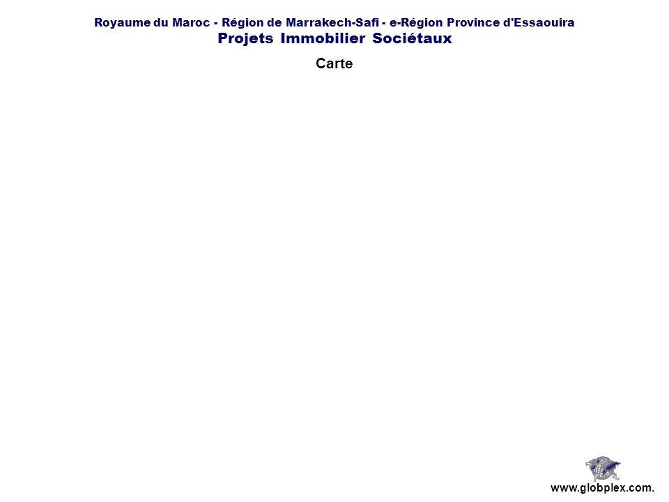 Royaume du Maroc - Région de Marrakech-Safi - e-Région Province d'Essaouira Projets Immobilier Sociétaux www.globplex.com. Carte