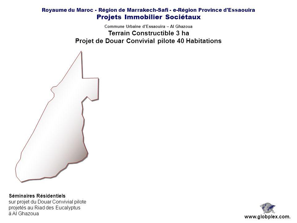 Royaume du Maroc - Région de Marrakech-Safi - e-Région Province d'Essaouira Projets Immobilier Sociétaux www.globplex.com. Commune Urbaine dEssaouira