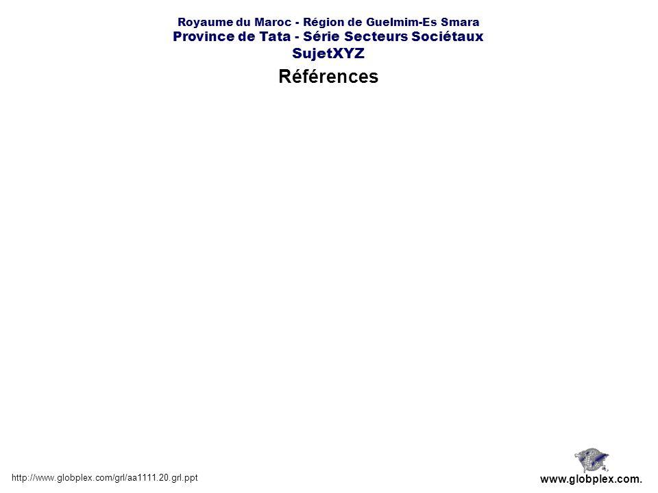 Royaume du Maroc - Région de Guelmim-Es Smara Province de Tata - Série Secteurs Sociétaux SujetXYZ Références http://www.globplex.com/grl/aa1111.20.gr