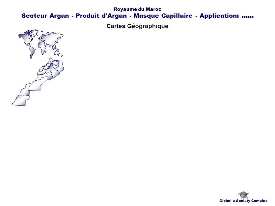 Cartes Géographique Global e-Society Complex Royaume du Maroc Secteur Argan - Produit d Argan - Masque Capillaire - Application:......