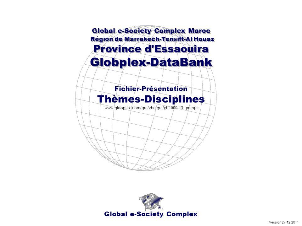 Royaume du Maroc - Région de Marrakech-Tensift-Al Haouza Province d Essaouira - Série Thèmes Disciplines SujetXYZ Mathématique http://www.globplex.com/grn/gt0109.10.grn.ppt www.globplex.com.