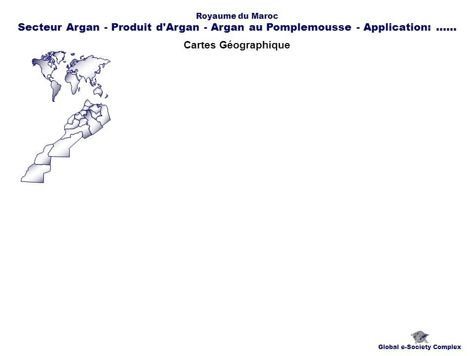 Cartes Géographique Global e-Society Complex Royaume du Maroc Secteur Argan - Produit d Argan - Argan au Pomplemousse - Application:......