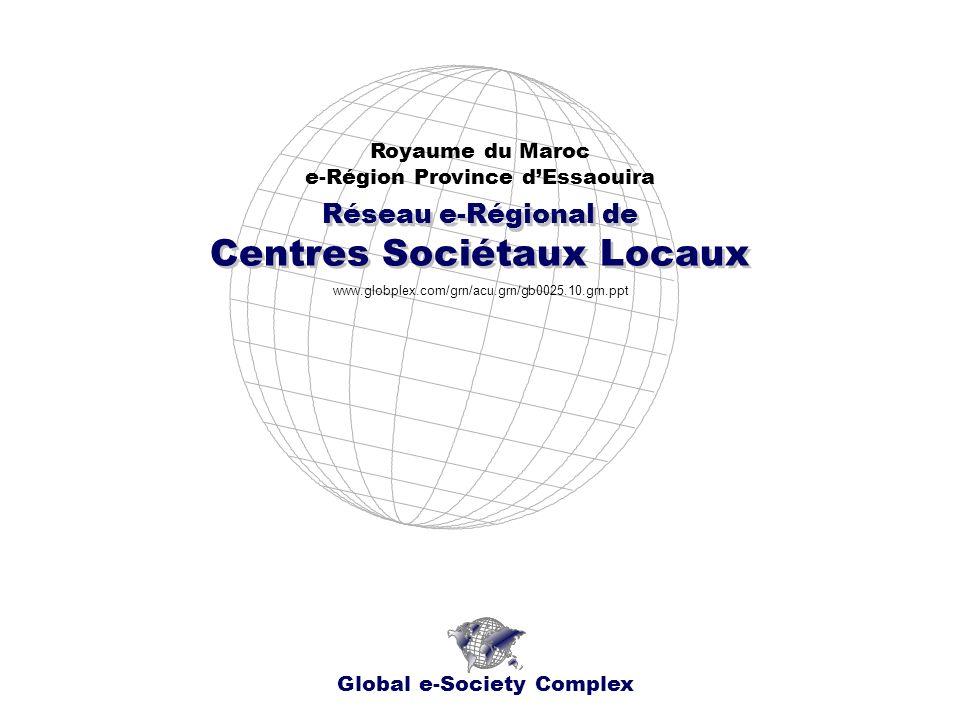Réseau e-Régional de Centres Sociétaux Locaux Réseau e-Régional de Centres Sociétaux Locaux Royaume du Maroc e-Région Province dEssaouira Global e-Soc