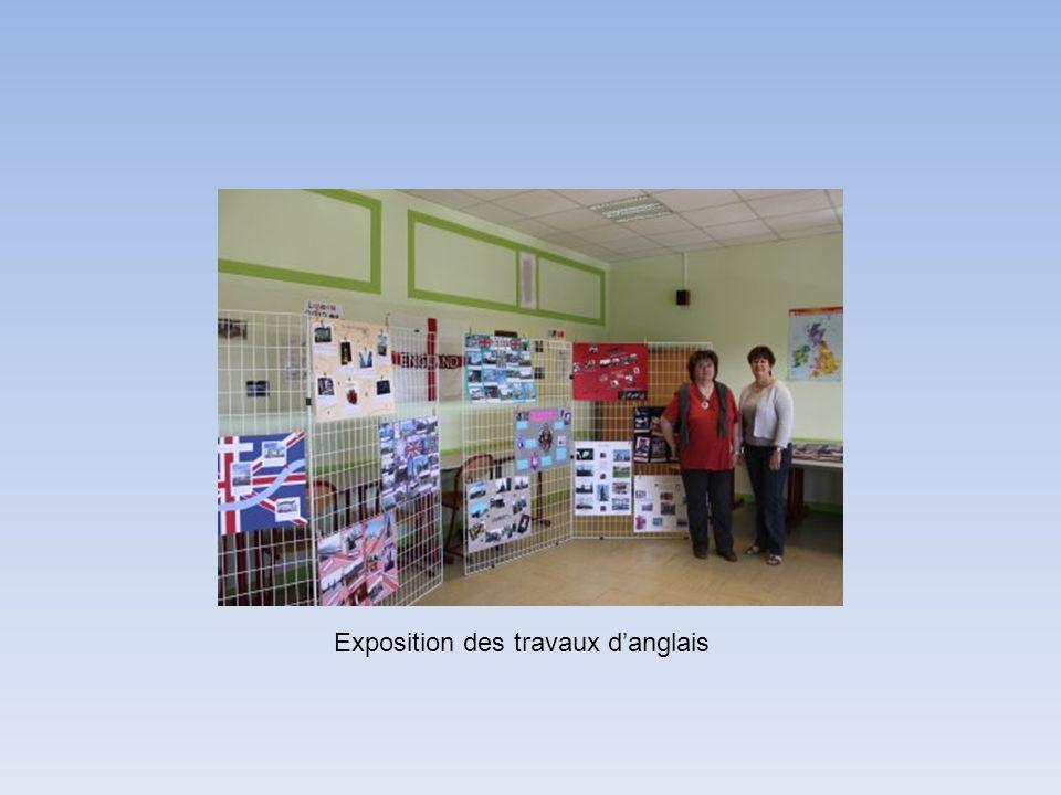 Exposition des travaux danglais