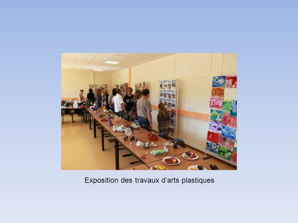 Exposition des travaux darts plastiques