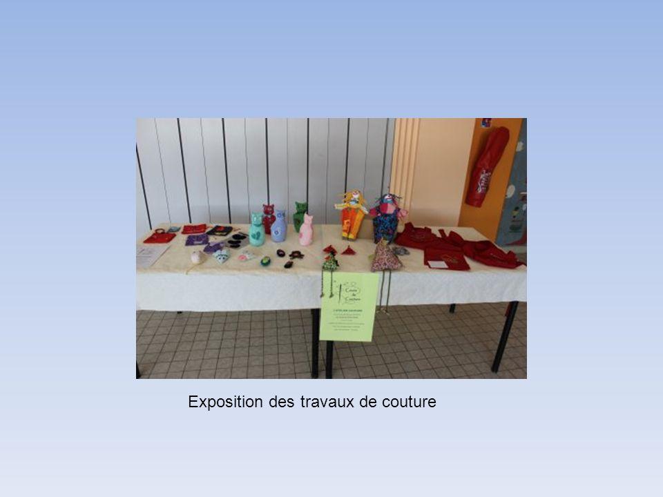 Exposition des travaux de couture