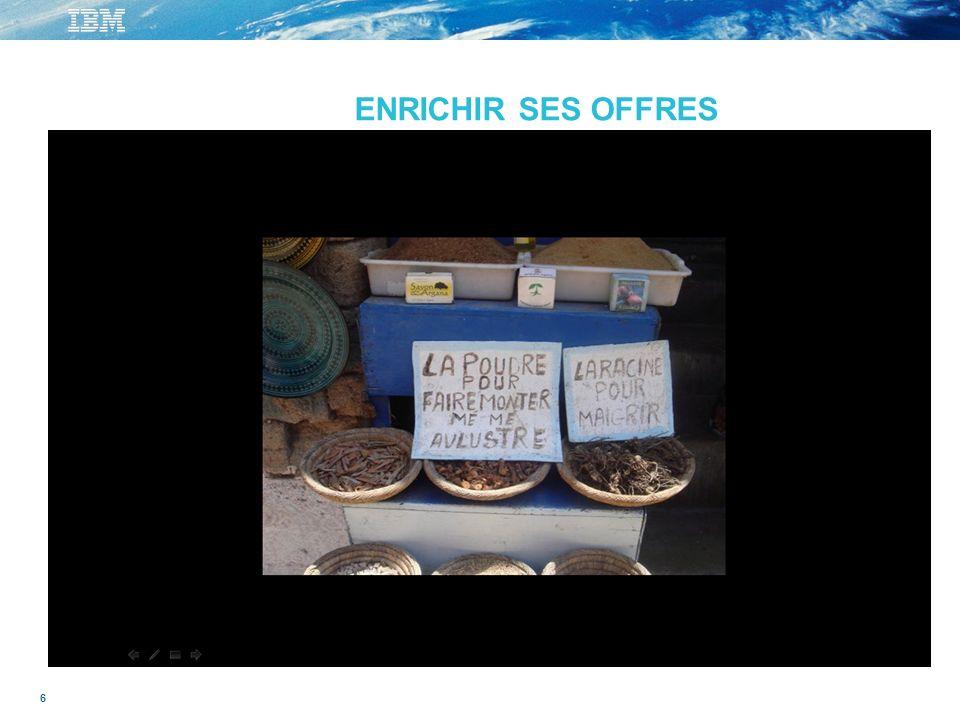 6 - ENRICHIR SES OFFRES