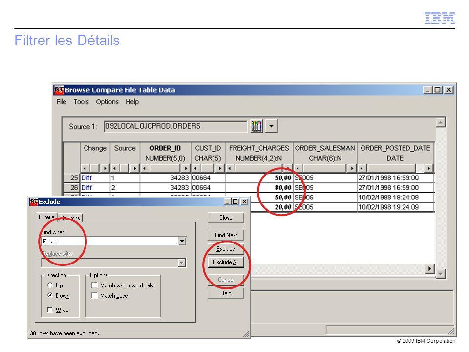 © 2009 IBM Corporation Filtrer les Détails