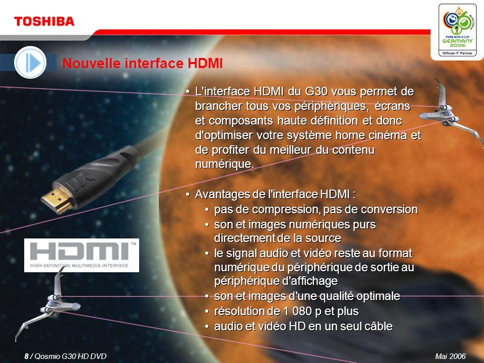 Mai 20067 / Qosmio G30 HD DVD 3. Programmation de QosmioPlayer : Interruption d'un programme télévisé pour le reprendre plus tard (Pause TV) TCette fo