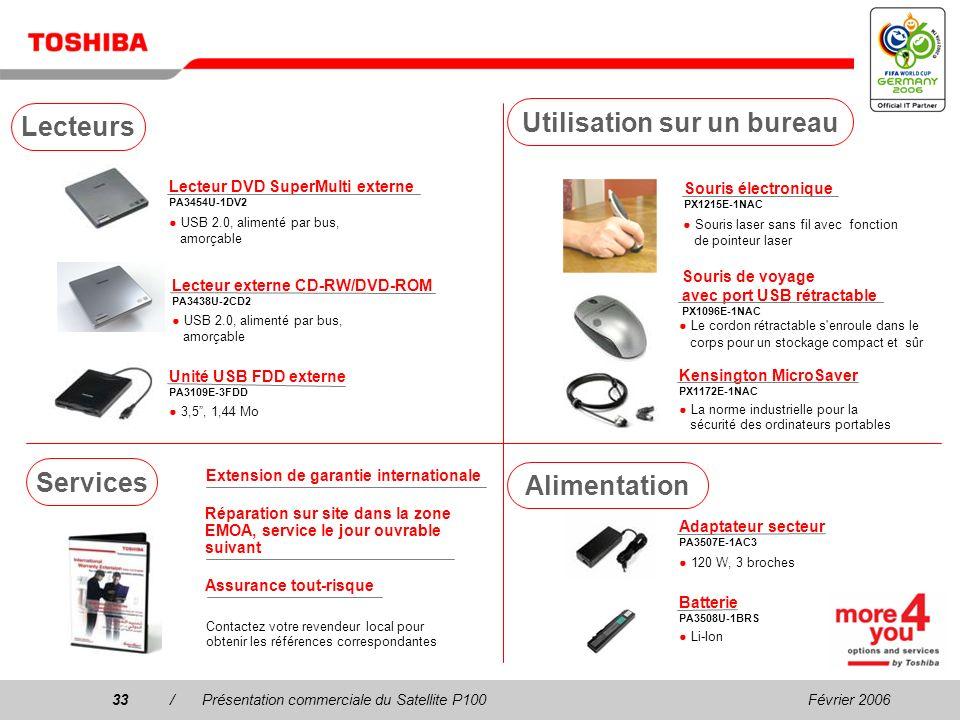Février 200632/Présentation commerciale du Satellite P100 Tuner TV USB DVB-T PX1211E-1TVD Télévision terrestre numérique compatible DVB-T gratuite, an