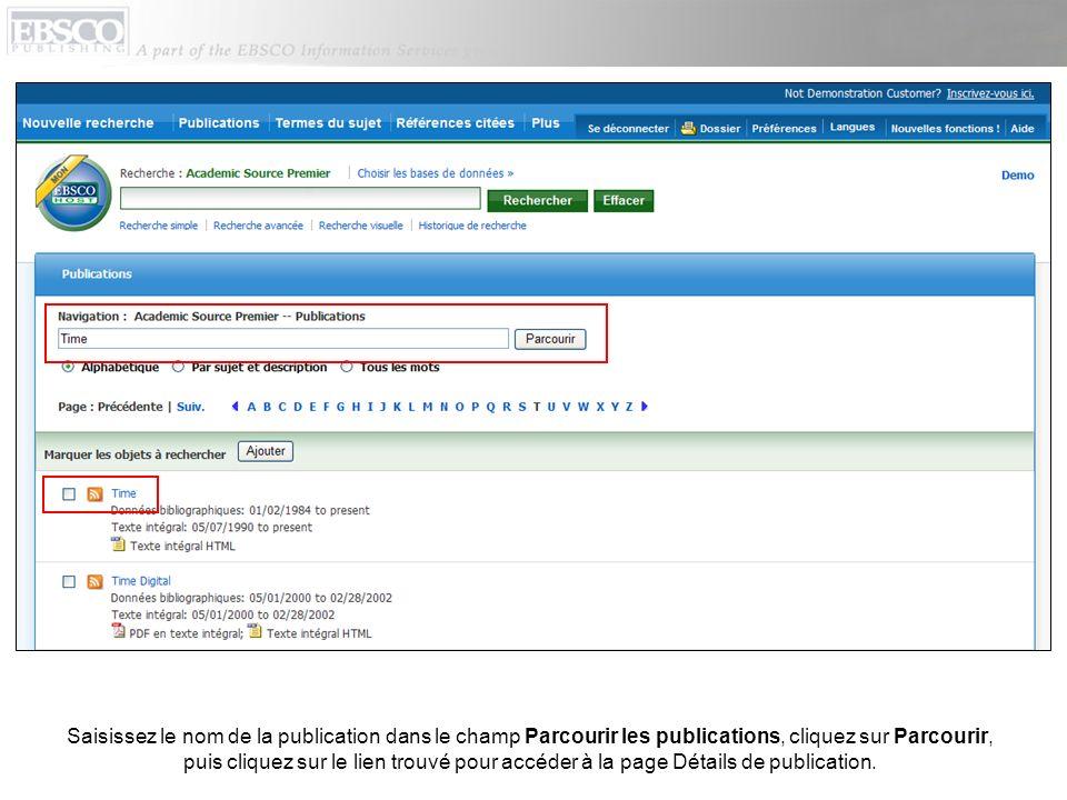Dans les données de publication, cliquez sur Alerter / Sauvegarder / Partager dans langle supérieur droit.