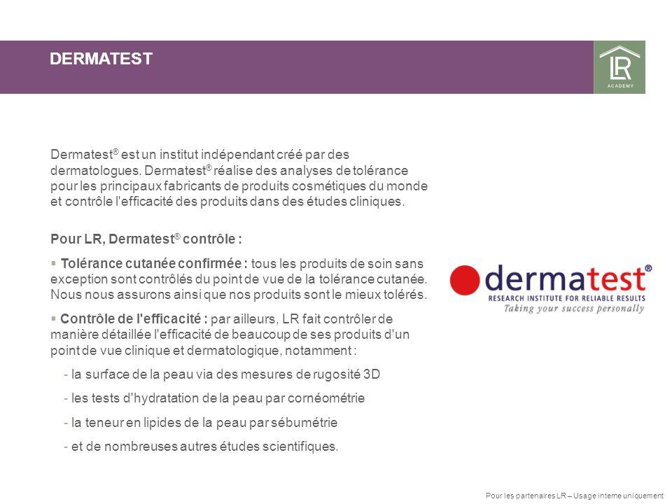 DERMATEST Dermatest ® est un institut indépendant créé par des dermatologues. Dermatest ® réalise des analyses de tolérance pour les principaux fabric