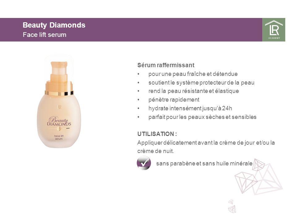 Beauty Diamonds Face lift serum Sérum raffermissant pour une peau fraîche et détendue soutient le système protecteur de la peau rend la peau résistant