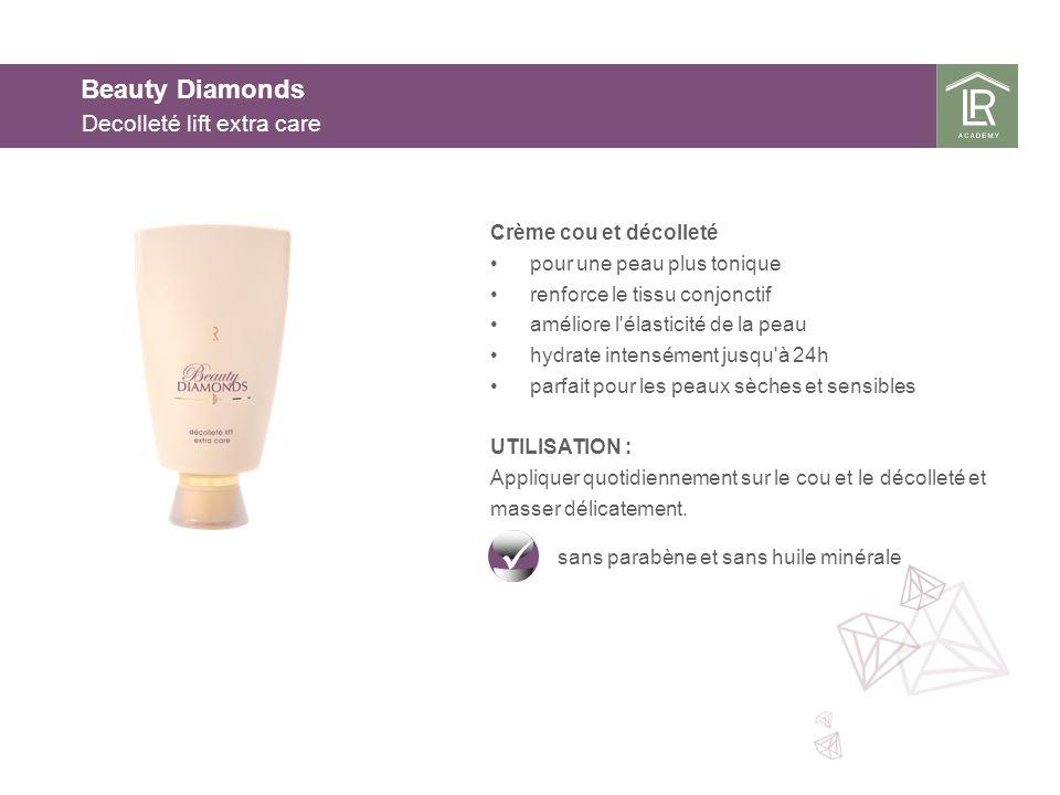 Beauty Diamonds Decolleté lift extra care Crème cou et décolleté pour une peau plus tonique renforce le tissu conjonctif améliore l'élasticité de la p