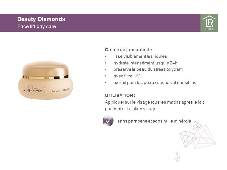 Beauty Diamonds Face lift day care Crème de jour antiride lisse visiblement les ridules hydrate intensément jusqu'à 24h préserve la peau du stress oxy
