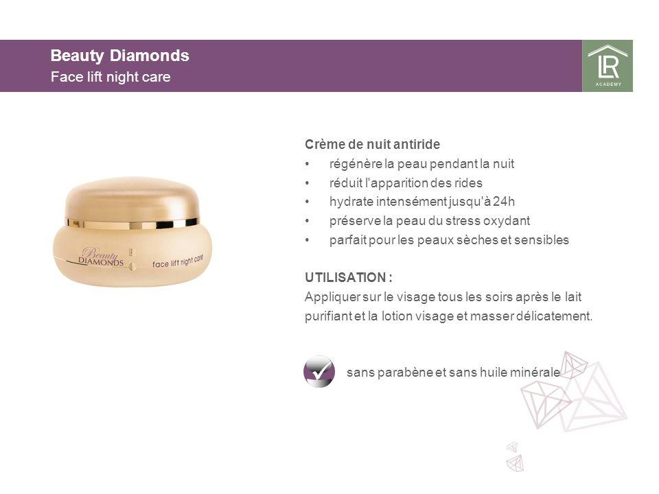 Beauty Diamonds Face lift night care Crème de nuit antiride régénère la peau pendant la nuit réduit l'apparition des rides hydrate intensément jusqu'à