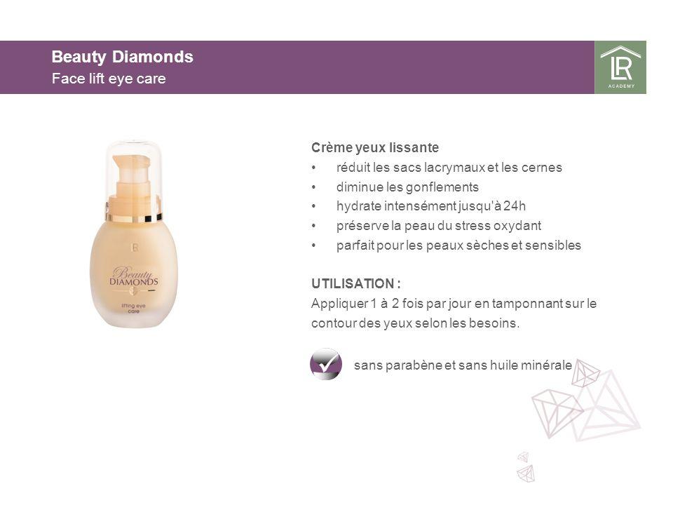 Beauty Diamonds Face lift eye care Crème yeux lissante réduit les sacs lacrymaux et les cernes diminue les gonflements hydrate intensément jusqu'à 24h