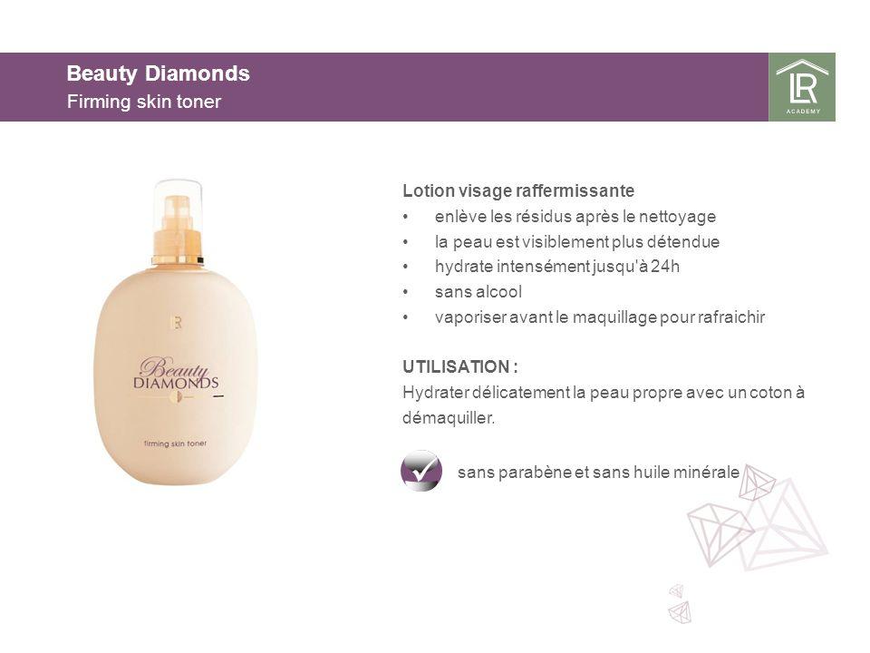 Beauty Diamonds Firming skin toner Lotion visage raffermissante enlève les résidus après le nettoyage la peau est visiblement plus détendue hydrate in