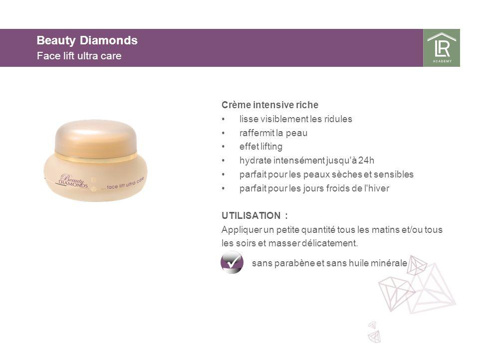 Beauty Diamonds Face lift ultra care Crème intensive riche lisse visiblement les ridules raffermit la peau effet lifting hydrate intensément jusqu'à 2