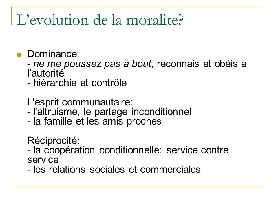 Conclusion: une conception minimale de la morale