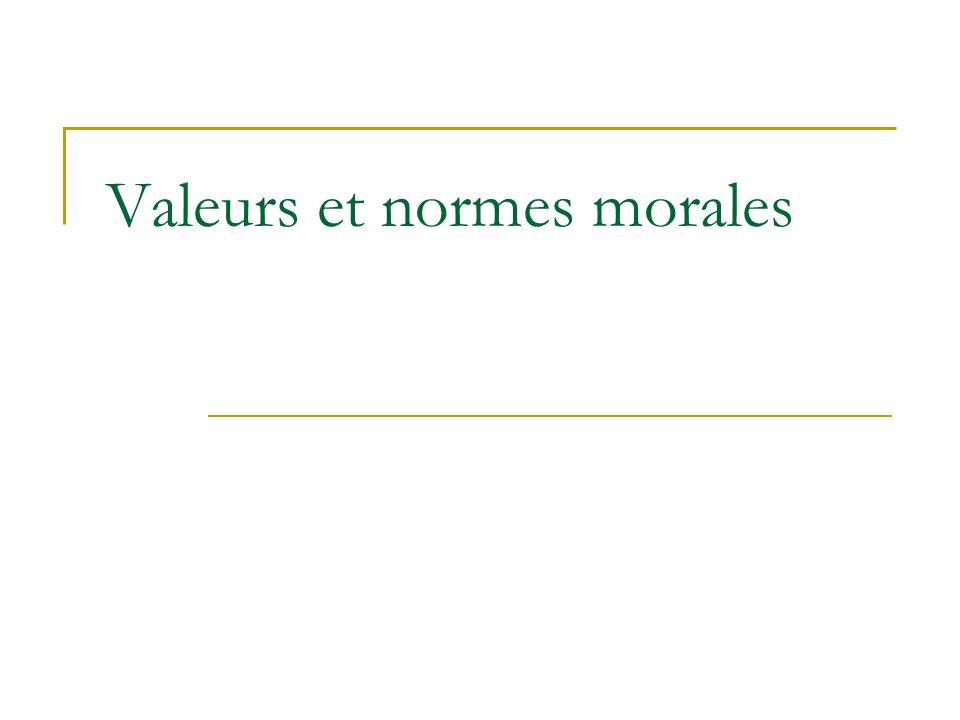 Valeurs et normes morales