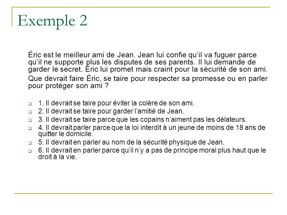 Exemple 2 Éric est le meilleur ami de Jean.