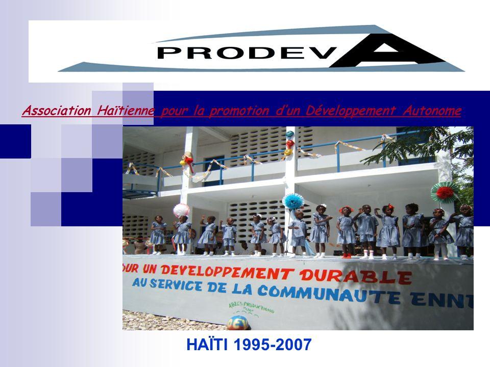 Association Haïtienne pour la promotion dun Développement Autonome HAÏTI 1995-2007