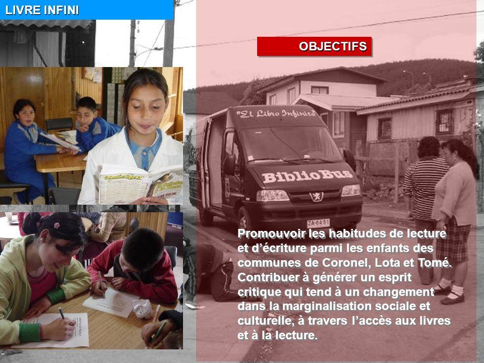 LIVRE INFINI Promouvoir les habitudes de lecture et décriture parmi les enfants des communes de Coronel, Lota et Tomé.