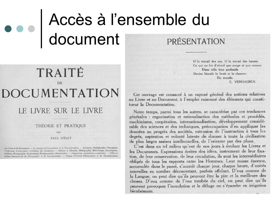 Accès à lensemble du document
