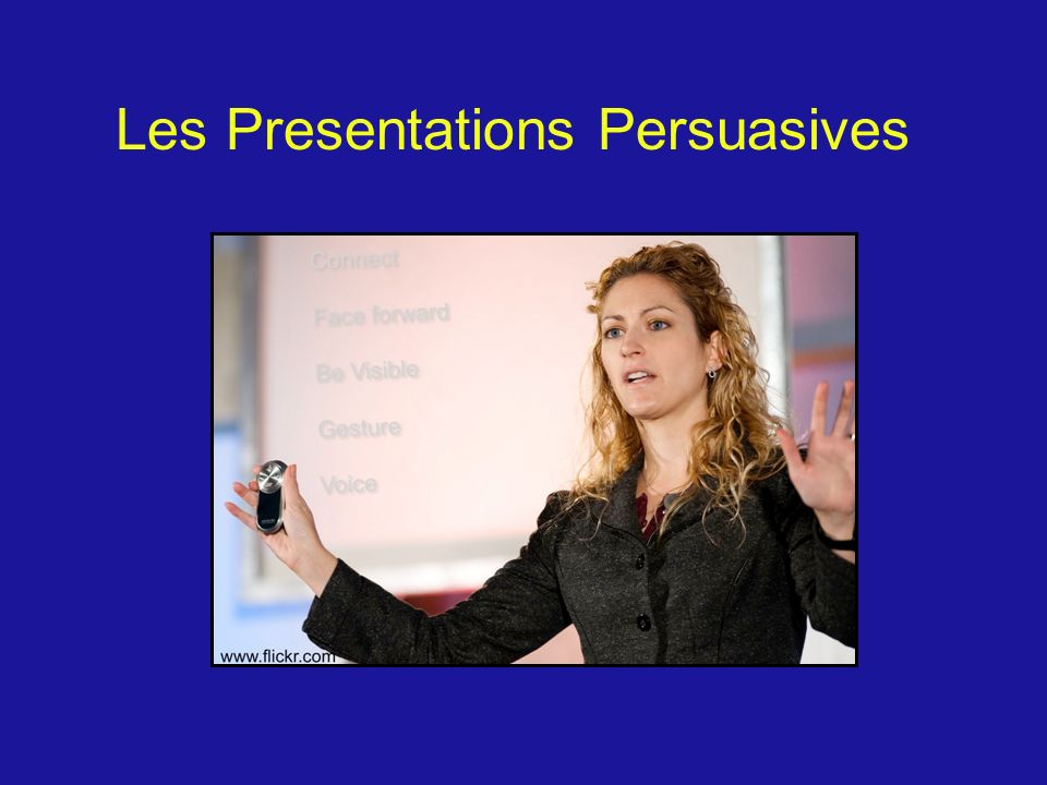 Les Presentations Persuasives