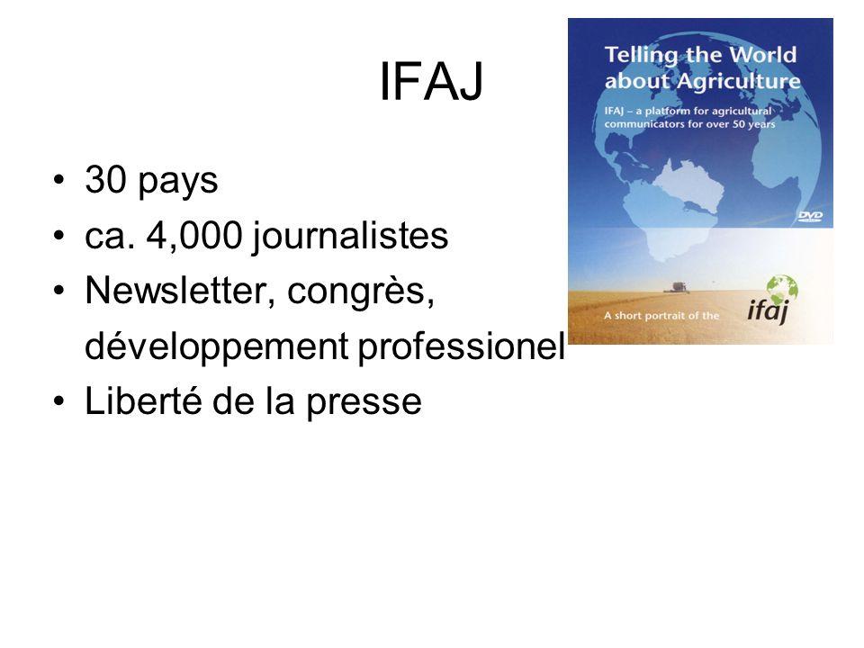 IFAJ 30 pays ca.