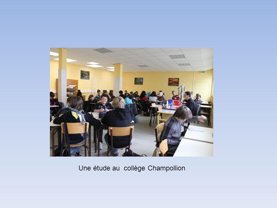 Une étude au collège Champollion