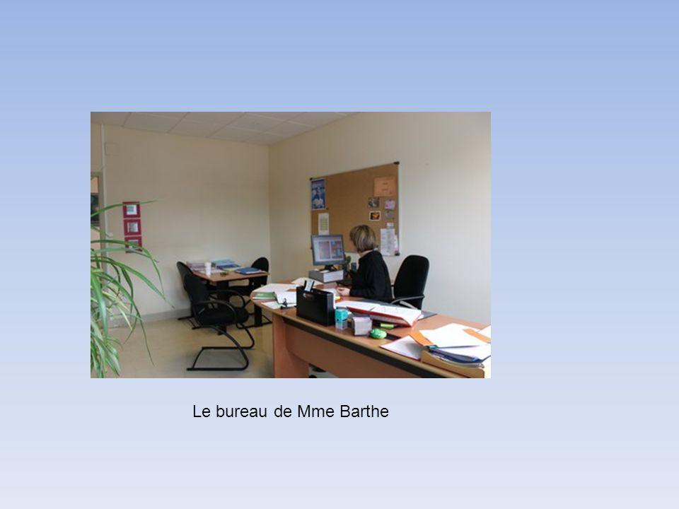 Le bureau de Mme Barthe