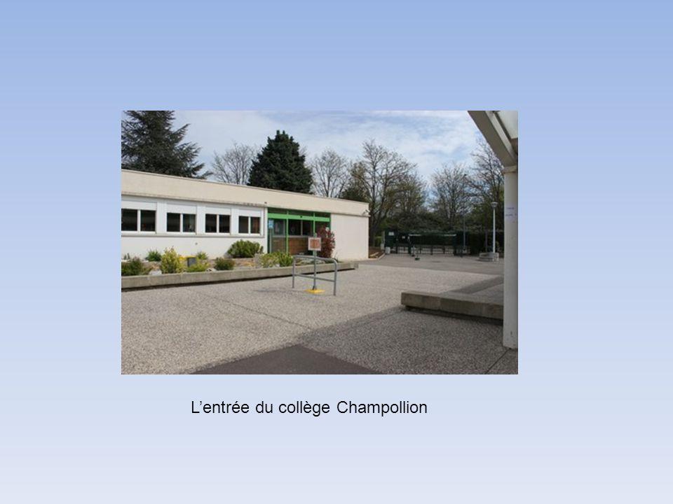 Lentrée du collège Champollion