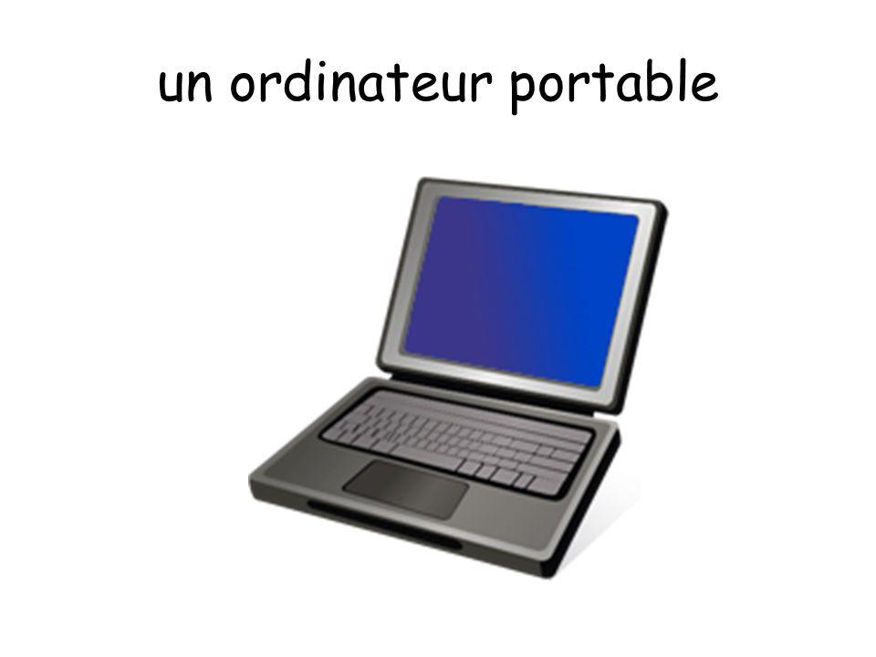 un ordinateur portable