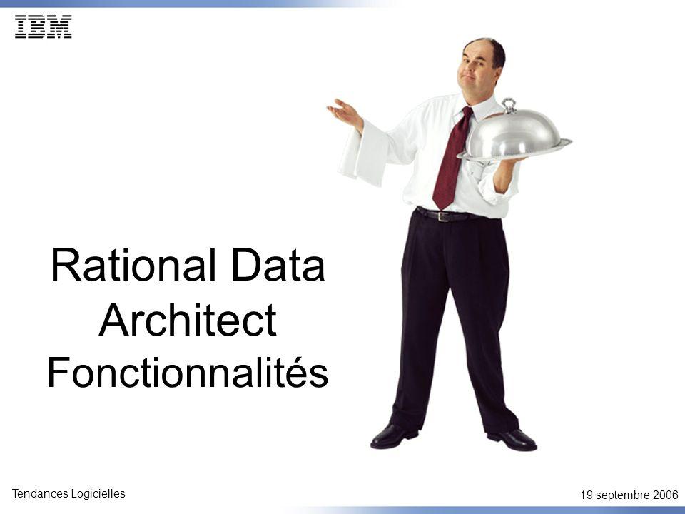 19 septembre 2006 Tendances Logicielles Découvrir et visualiser les sources de données Détection automatique des serveurs disponibles Visualiser la topologie des sources de données Vues détaillée des propriétés