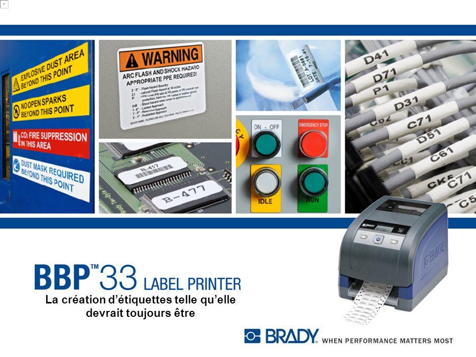 Comptabilité logicielle BBP33 Logiciel détiquetage LabelMark Développé spécifiquement pour lidentification de fils et câbles et datacom, létiquetage ADM et les applications industrielles.