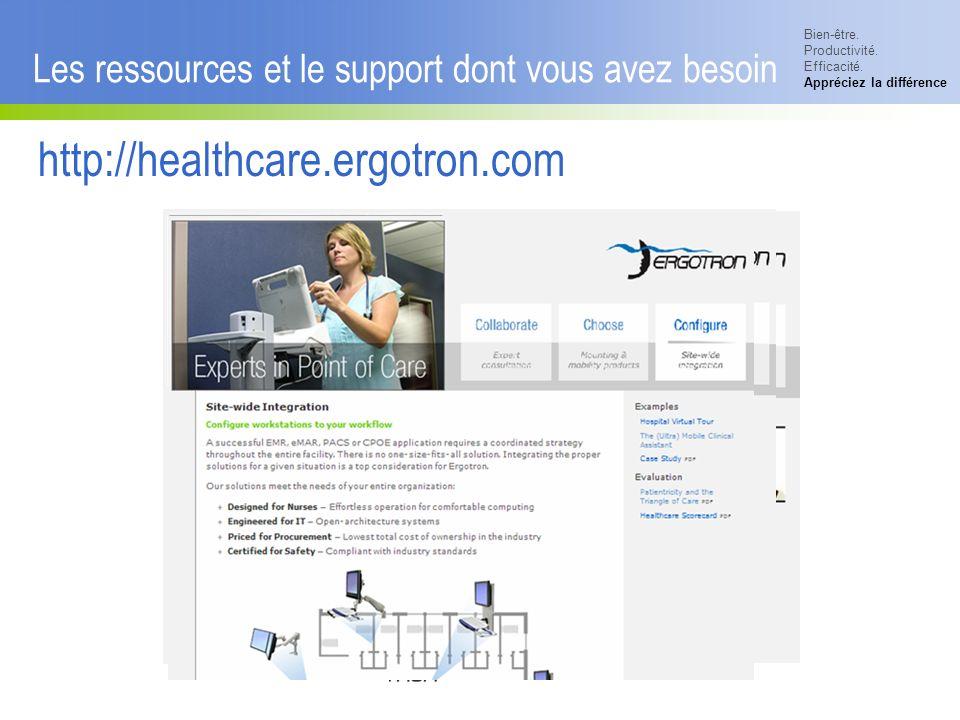 Bien-être. Productivité. Efficacité. Appréciez la différence © 2007 Ergotron, Inc.