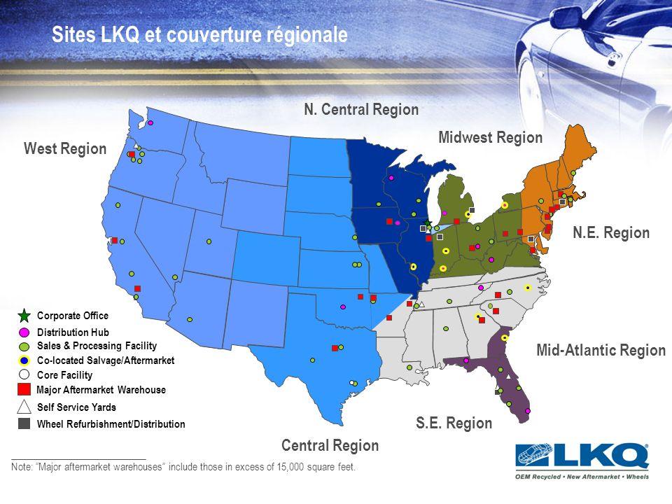 Recyclage LKQ récupère principalement des véhicules récents et à bas kilométrage.